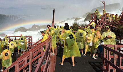 Image of Students at the Cave of the Winds, Niagara Falls, Canada